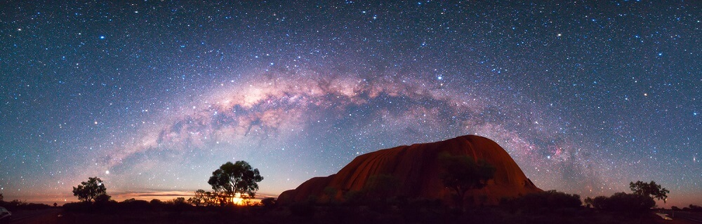 Seeing the Milky Way Uluru