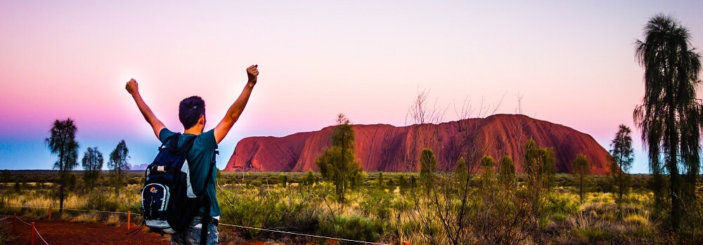 The Incredible Changing Colours of Ayers Rock at Sunrise and Sunset