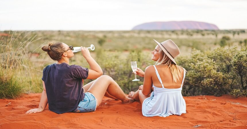 Drinks at Uluru