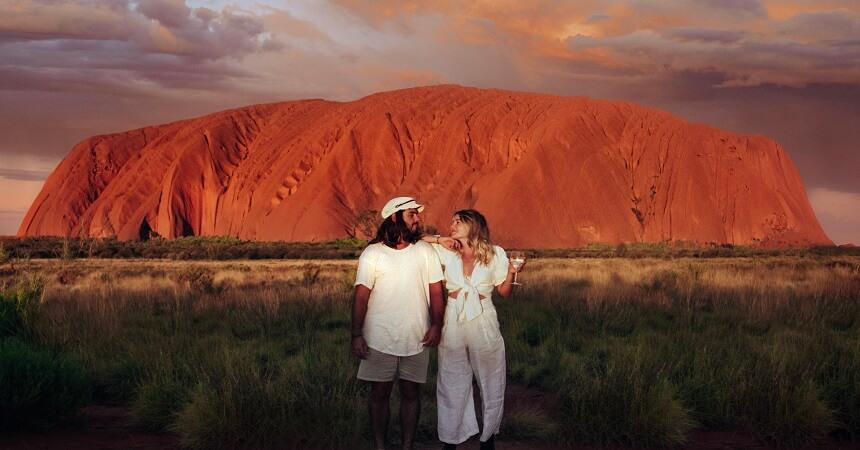 Uluru Sunset Couple