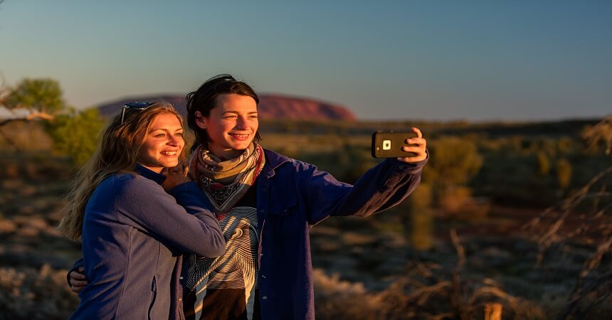 Friends at Uluru