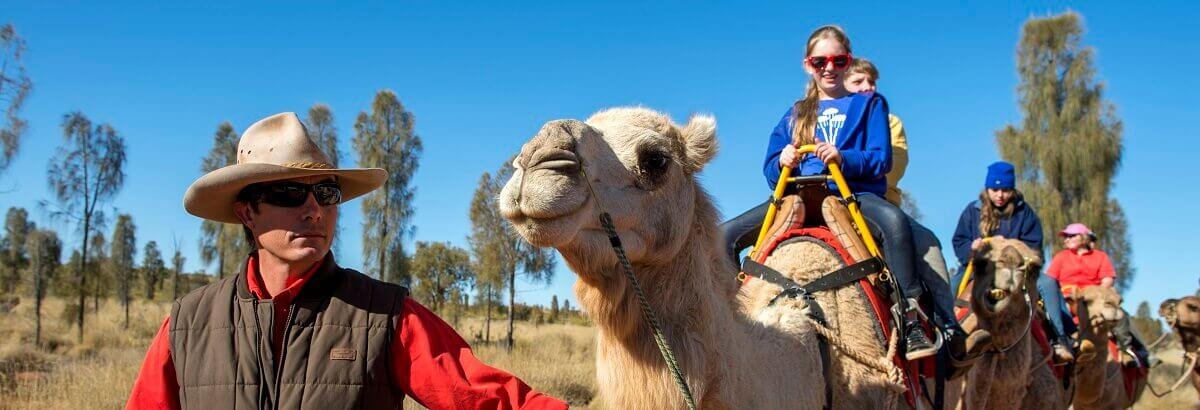 Camel Riding In Uluru