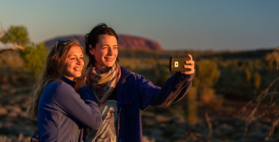 Uluru Sunset Selfie